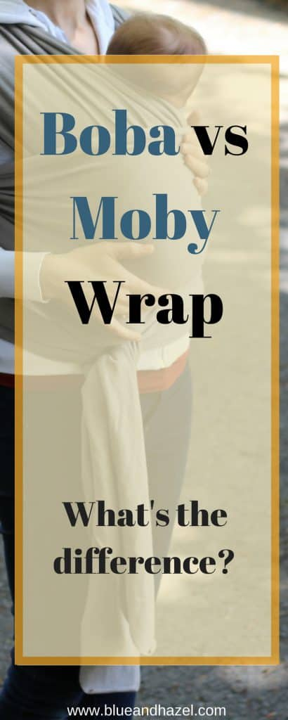 Boba vs Moby Wrap Review // What is the difference between a Moby and Boba Baby wrap? See why a baby wrap was so great for the first few months with a new baby. #babywearing #boba #moby #bobareview #blueandhazel #newborn