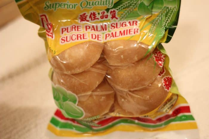 pure palm sugar in a package