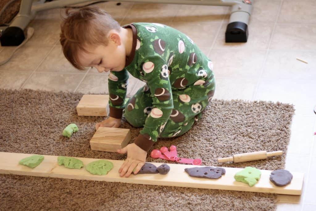 Play dough toddler activity