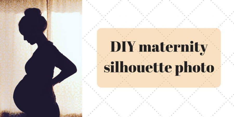 DIY maternity silhouette photo