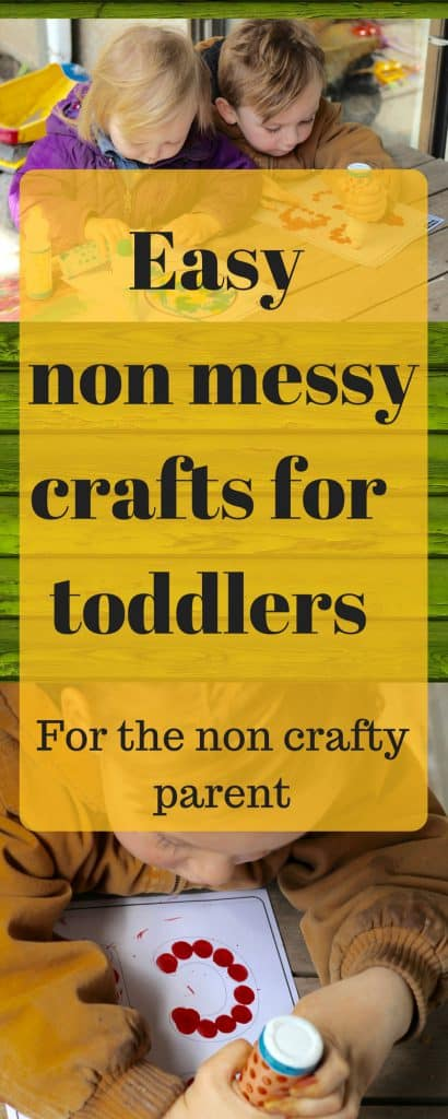 Here are some great toddler activities that are easy to do at home and not too messy. // Easy crafts for toddlers and kids for the non crafty mom // #toddleractivities #kidactivities #blueandhazel #toddler #kidcrafts