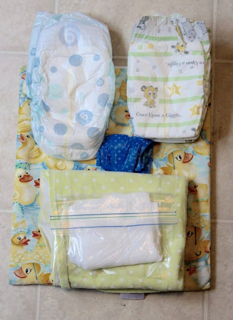 Wet Bag with Diapers