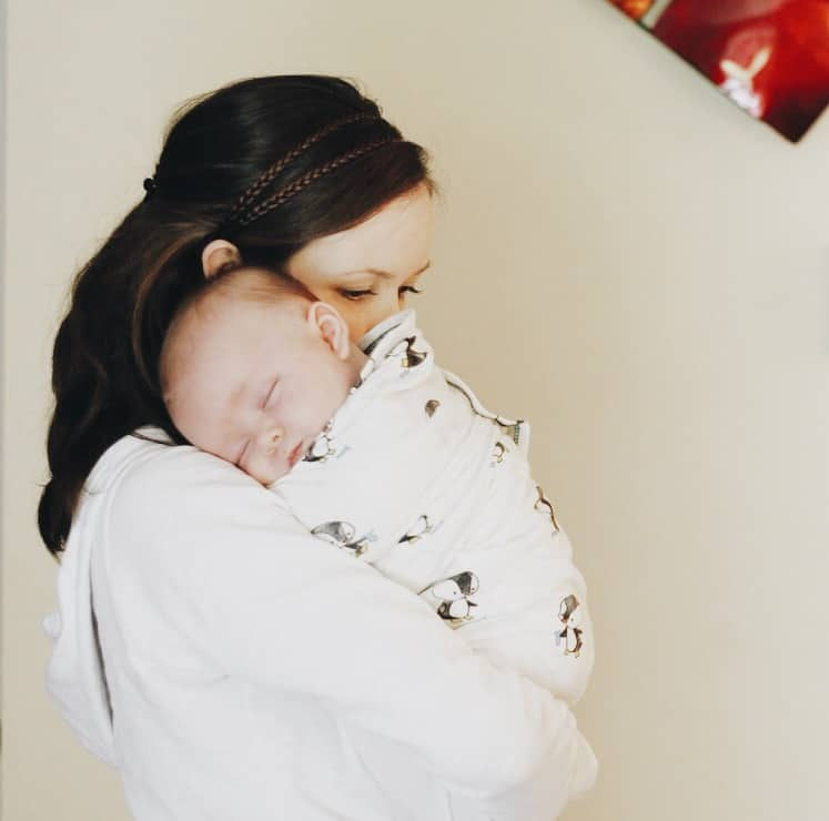 Nested Bean Zen Swaddle newborn photo
