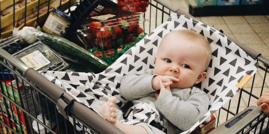 shopping with a baby