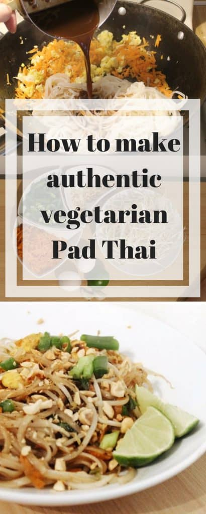 How to make authentic vegetarian Pad Thai at home // Learn to make Vegetarian Pad Thai and the sauce // Easy Pad Thai at home // How to make Thai food like at a restaurant and eat authentic Pad Thai with fresh ingredients! // #PadThai #blueandhazel #vegetarianthaifood #homecookedmeal