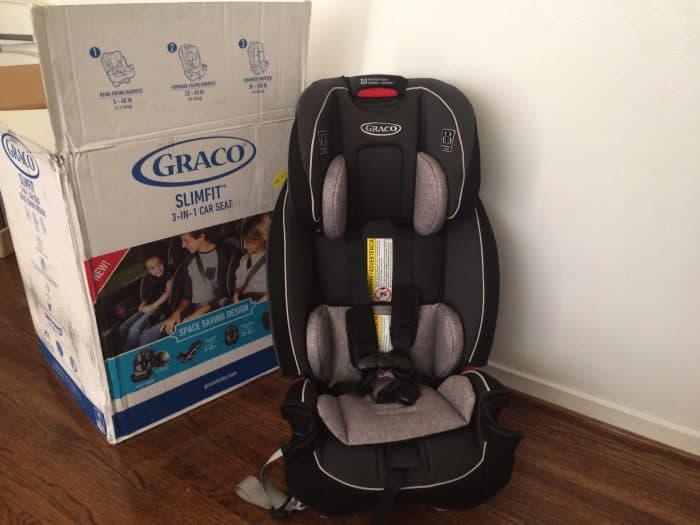 Finding narrow car seats ; the Graco Slimfit All in One