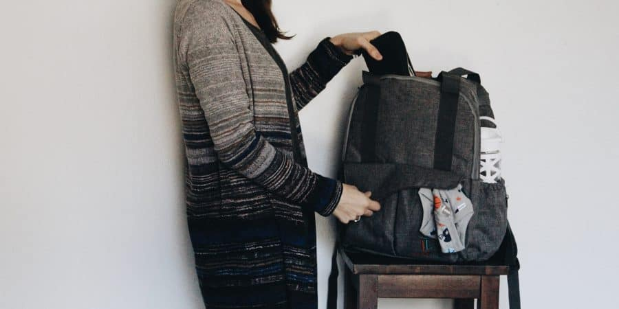 How I pack my diaper bag with Onesies brand mix and match separates