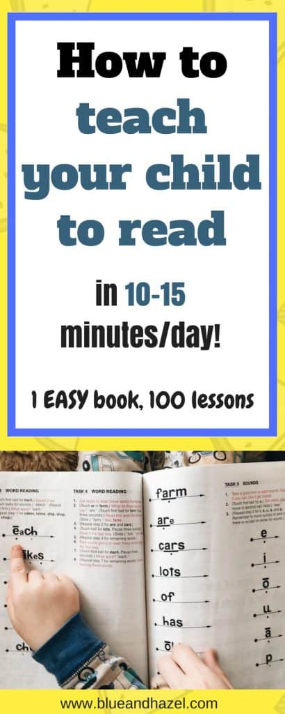 How to teach your kid to read the easy way! Teach your Child to Read in 100 Easy Lessons! How to teach your preschooler to read// Homeschool// how to use this book to do daily reading lessons and get your child reading before school or caught up in school. #earlyreading #homeschool #preschool #blueandhazel