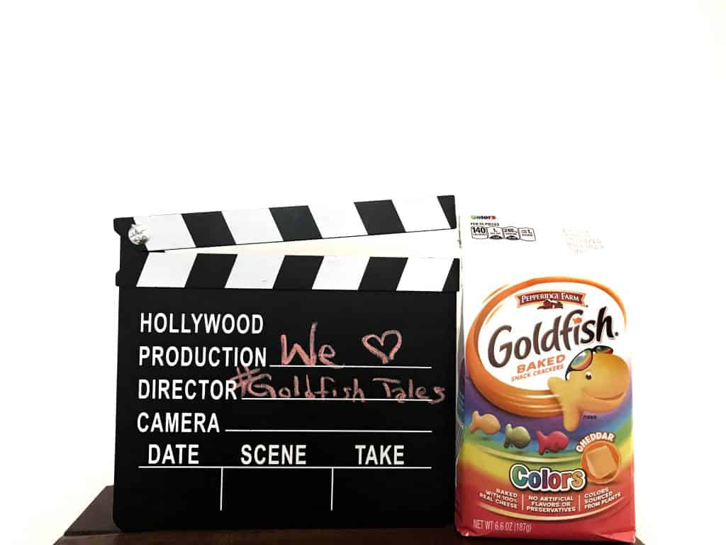 stop motion video using Goldfish crackers