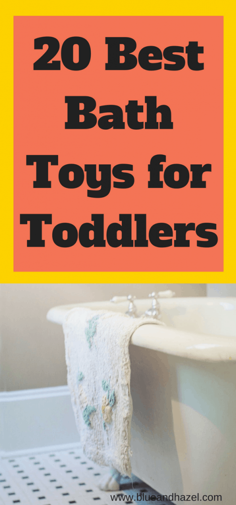 20 Best Bath Toys for Toddlers | Fun bath toys for kids that will help them to love bath time and play longer. Make bath time fun again! #toddler #bathtoys #kidtoys #kids #blueandhazel