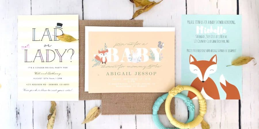 Gender Neutral Baby Shower Invitations With Basic Invite