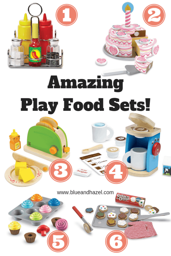 Quality Play Food Sets for preschoolers and Montessori rooms.