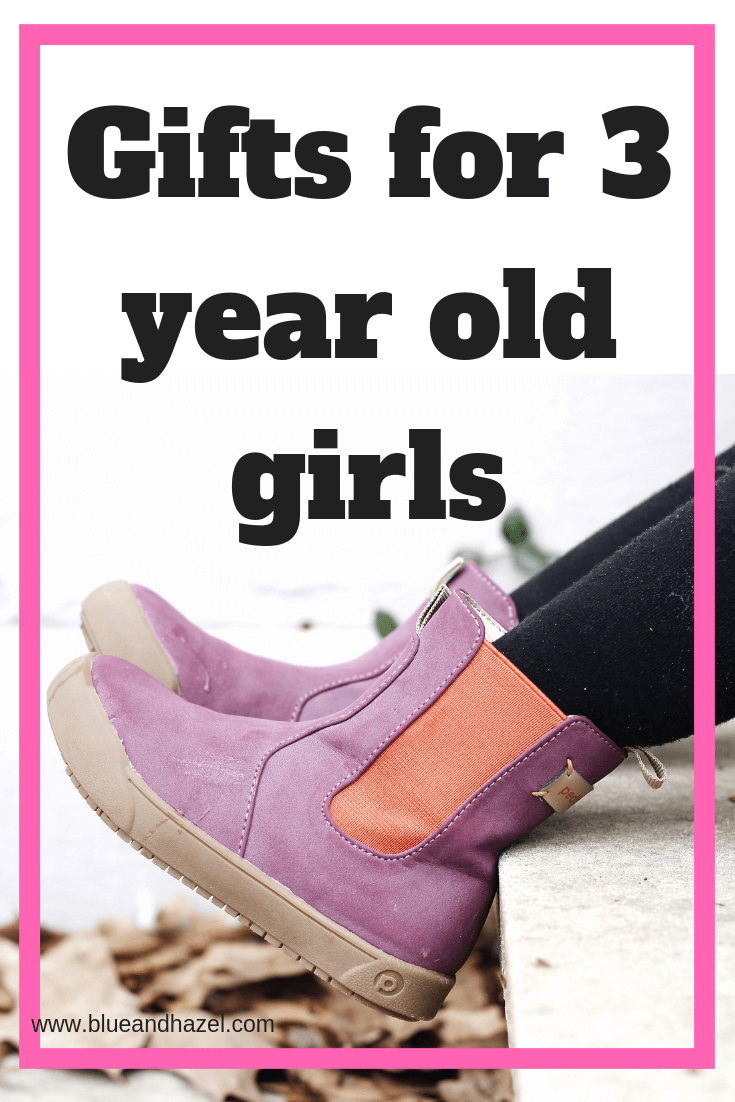 purple boots from Pediped on a 3 year old girl