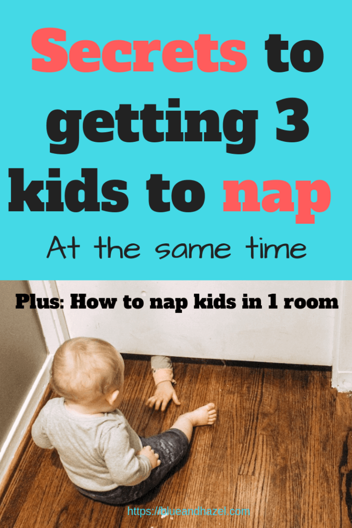 Secrets to get your kids to nap at the same time once your toddler is napping once a day. Try these tips before giving up the nap too early!