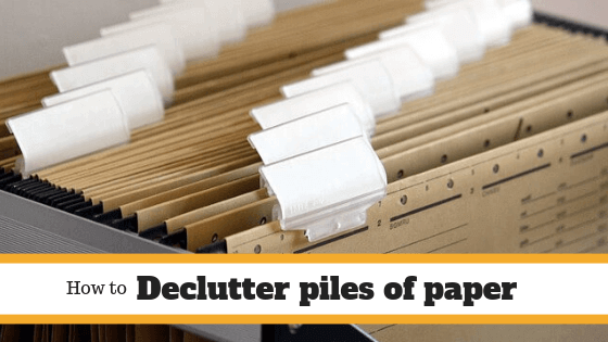 Organized paper filing system