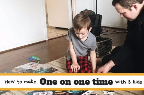 A father and son spending one on one time together doing puzzles