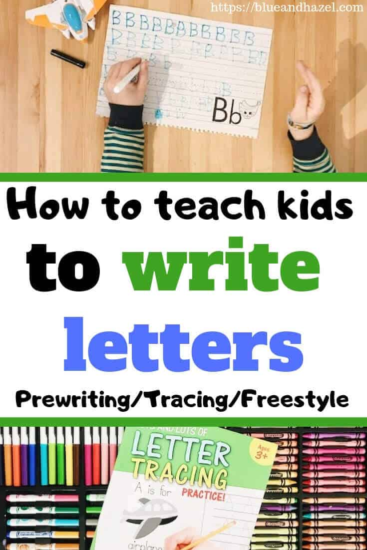 How to teach kids to write letters of the alphabet in preschool.