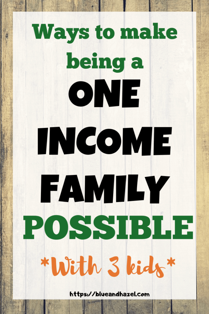 How to live on one income Pin image