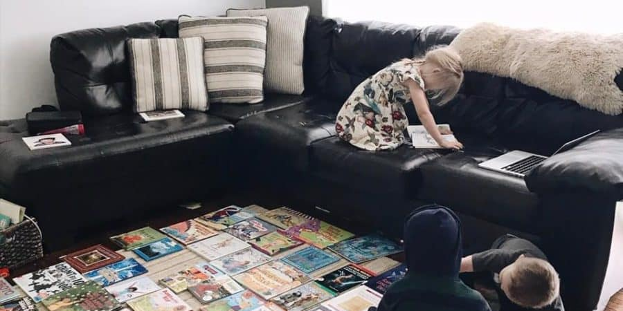 kids reading books instead of watching T.V.