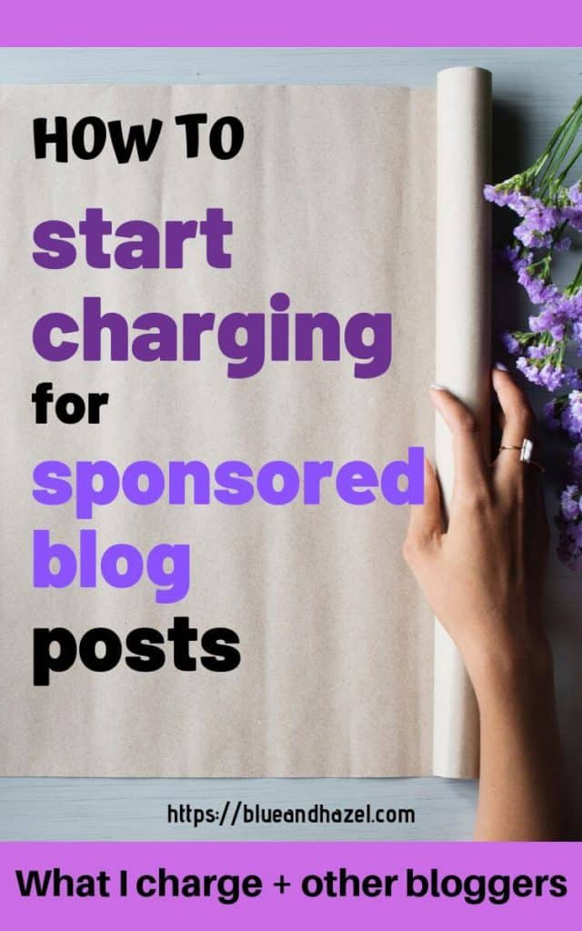 pinterest infographic for how to start charging brands for sponsored posts