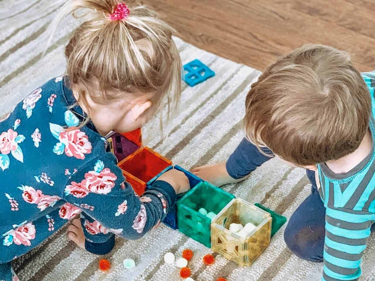 Playing Preschool Sorting Activity By Busy Toddler