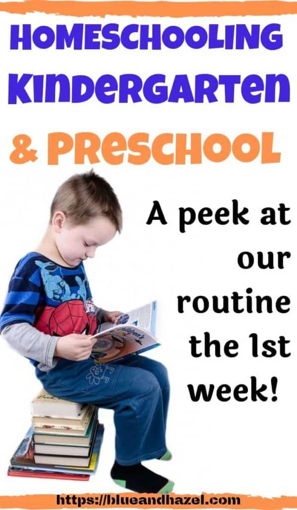 homeschooling kindergarten and preschool