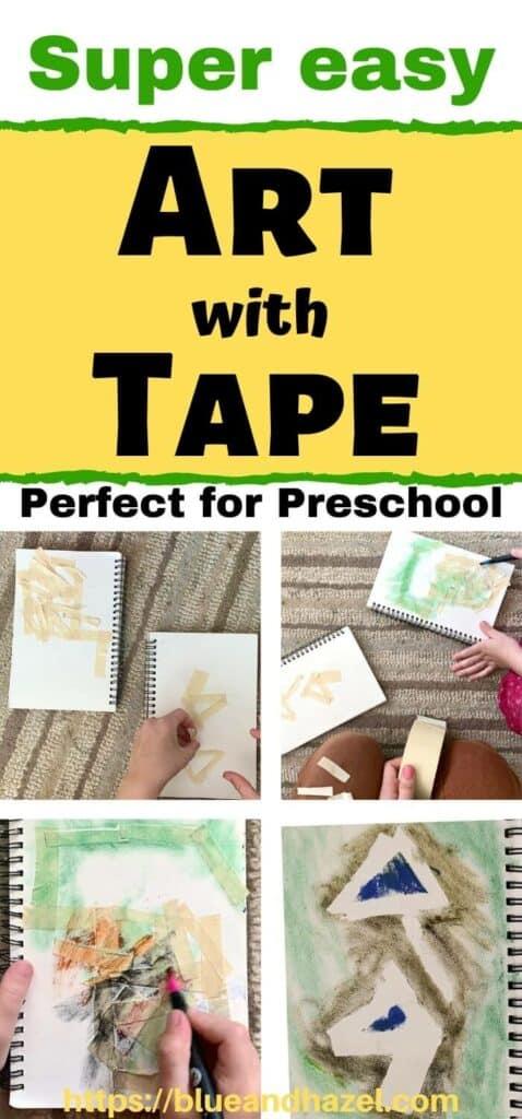 easy preschool tape resist art