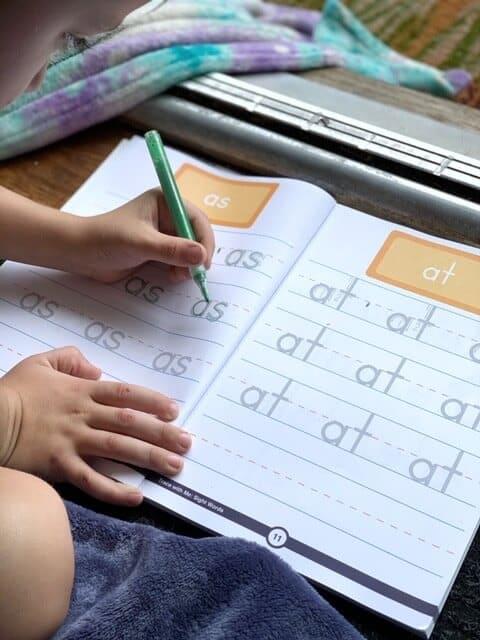 tracing sight words kindergarten workbook