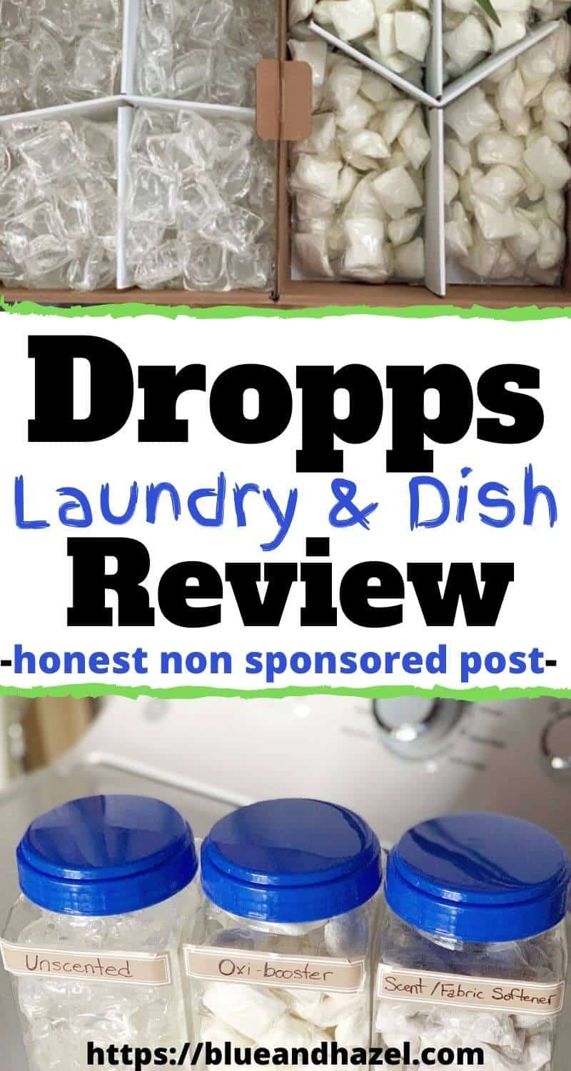 Dropps laundry and dish pods