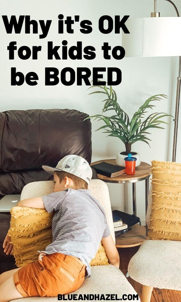What to do when kids whine about being bored. Why being bored is good for kids, and how to help them use their imaginations when they can't find anything to do.