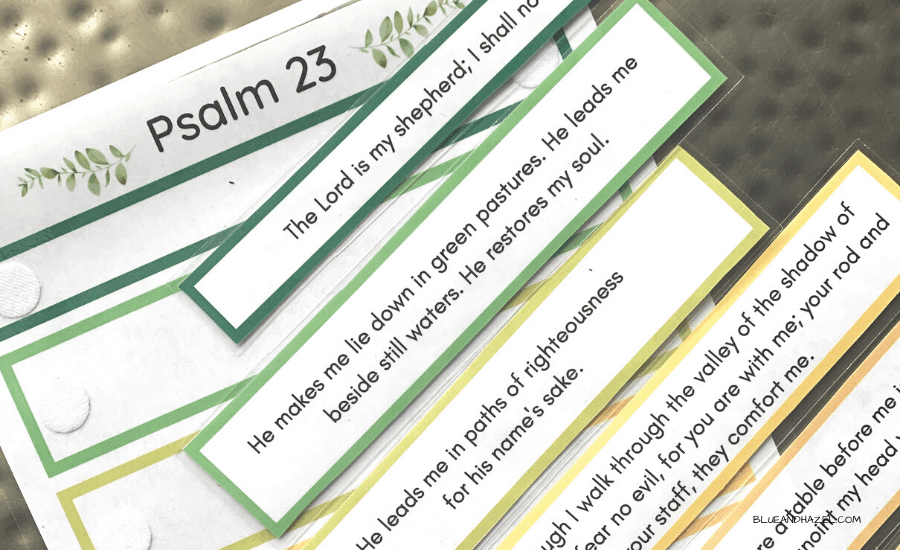 psalm 23 memory work printable