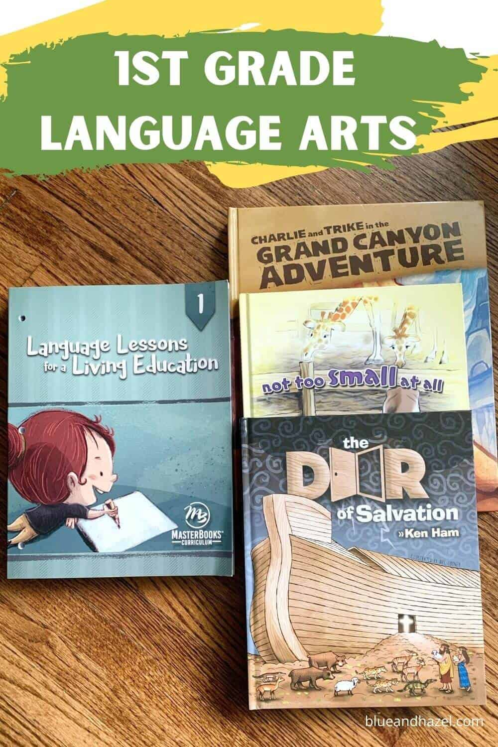 Our kindergarten and 1st grade homeschool curriculum includes  language lessons for a living education by masterbooks