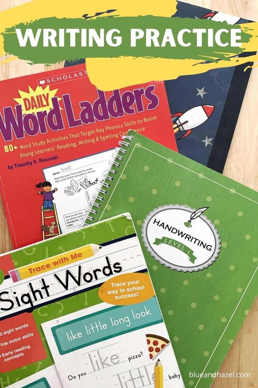 kindergarten and first grade writing practice workbooks