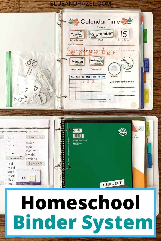 What goes inside of our kindergarten and homeschool weekly binders