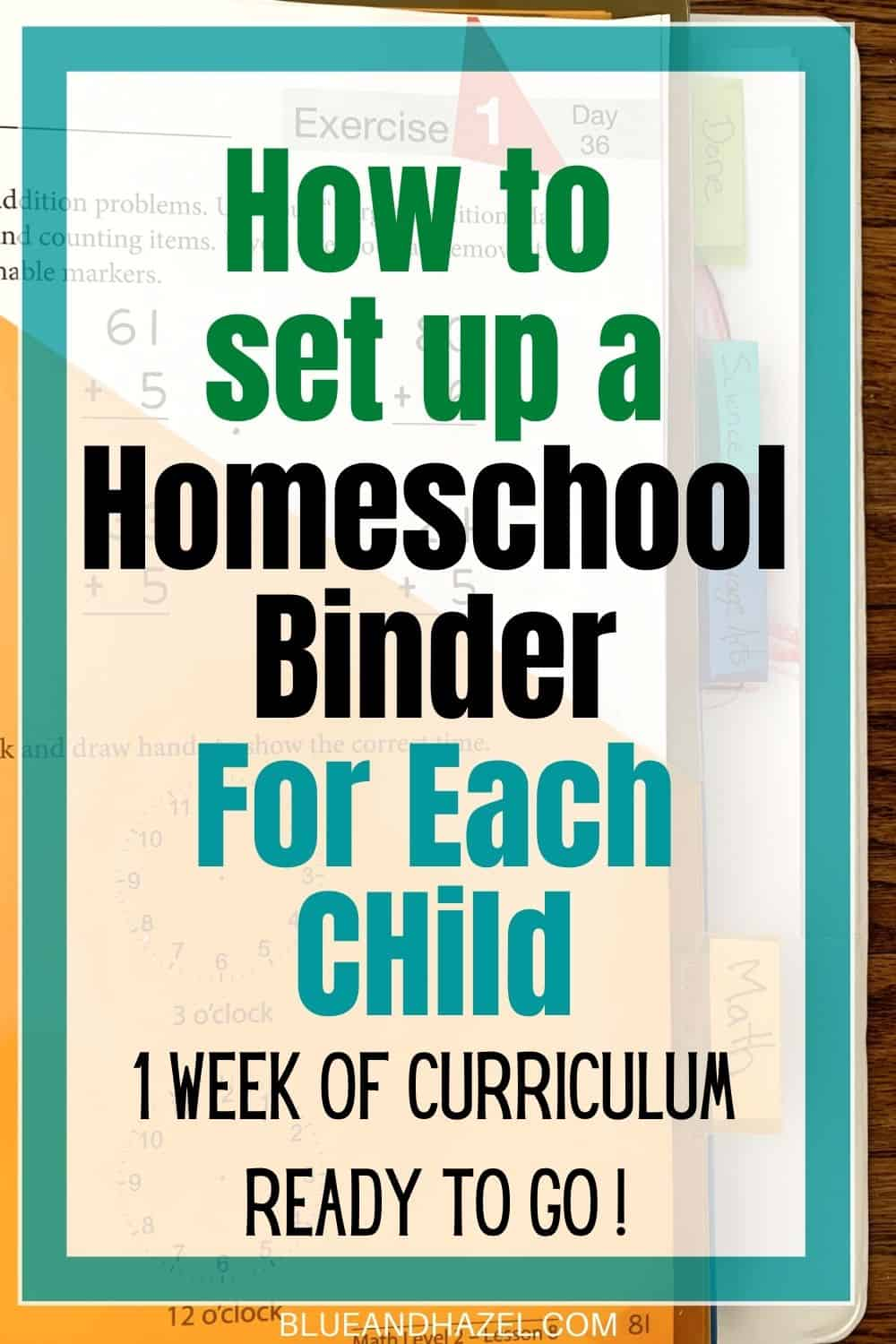 How to organize homeschool curriculum for each kid