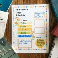 loop schedule for homeschool