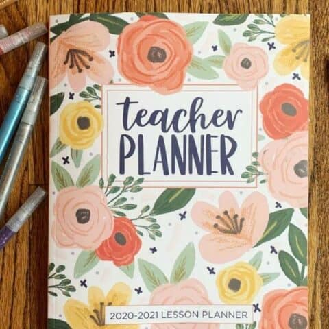 A homeschool planner used to record activities using reverse planning