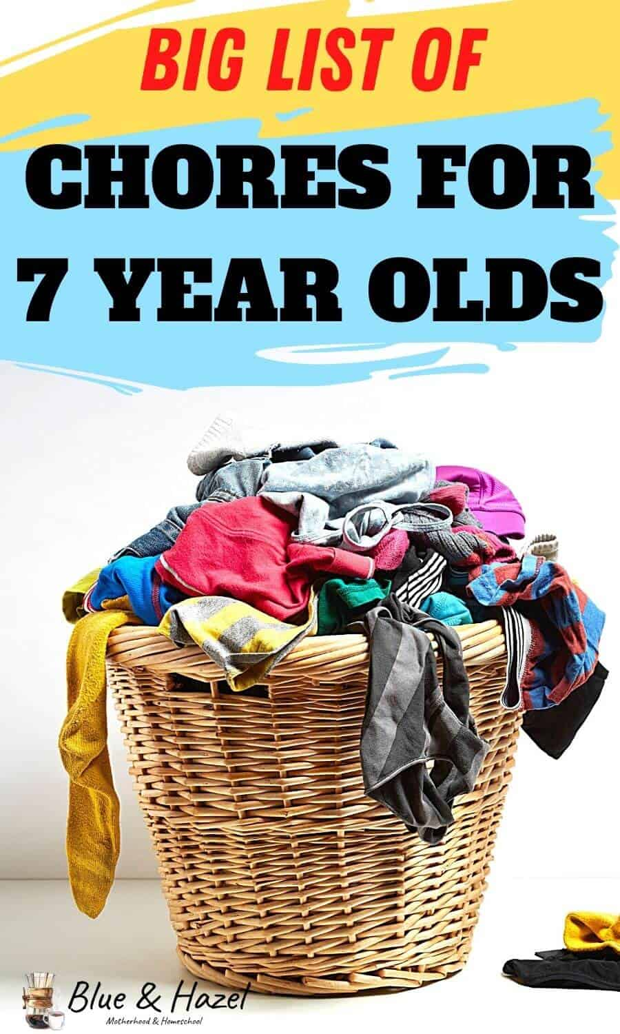 big list of chores for 7 year olds! Here's 17 chores 7 year olds can do to learn responsibility.