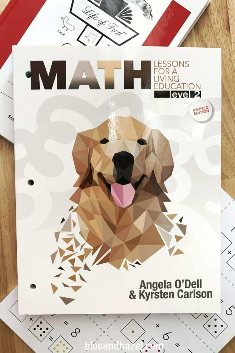 Masterbooks math level 2 workbook paired with right brain flashcards for practicing addition facts