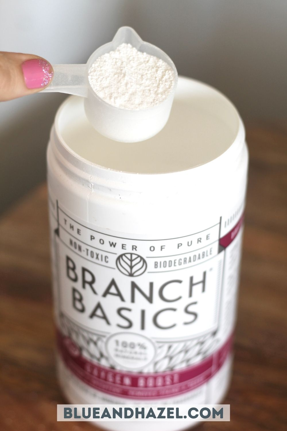 one scoop of branch basics oxygen boost .
