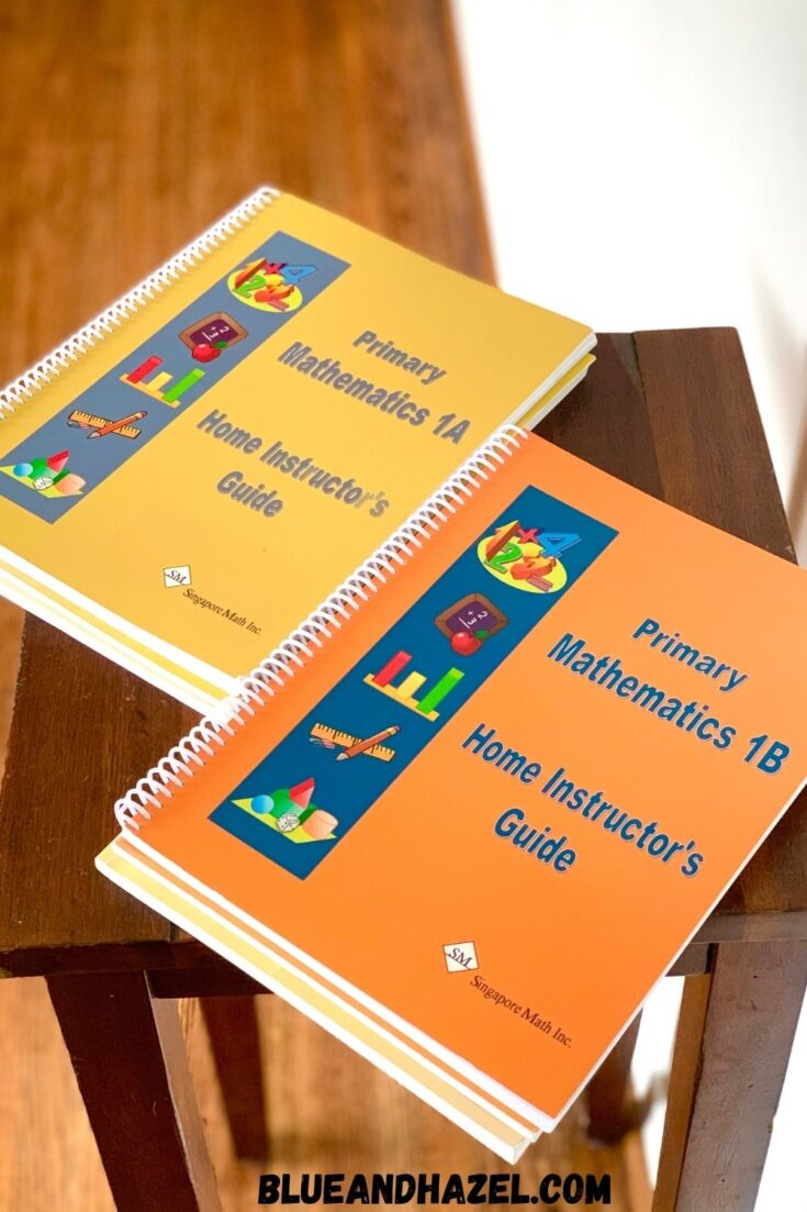 Singapore Math Home Instructor's Guide Level 1 A And 1B side by side