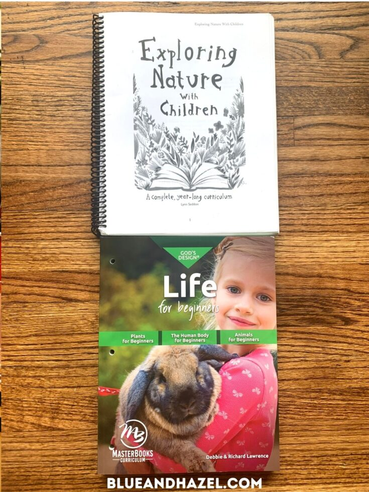 Exploring Nature With Children and Life for Beginners by Masterbooks science curriculums side by side