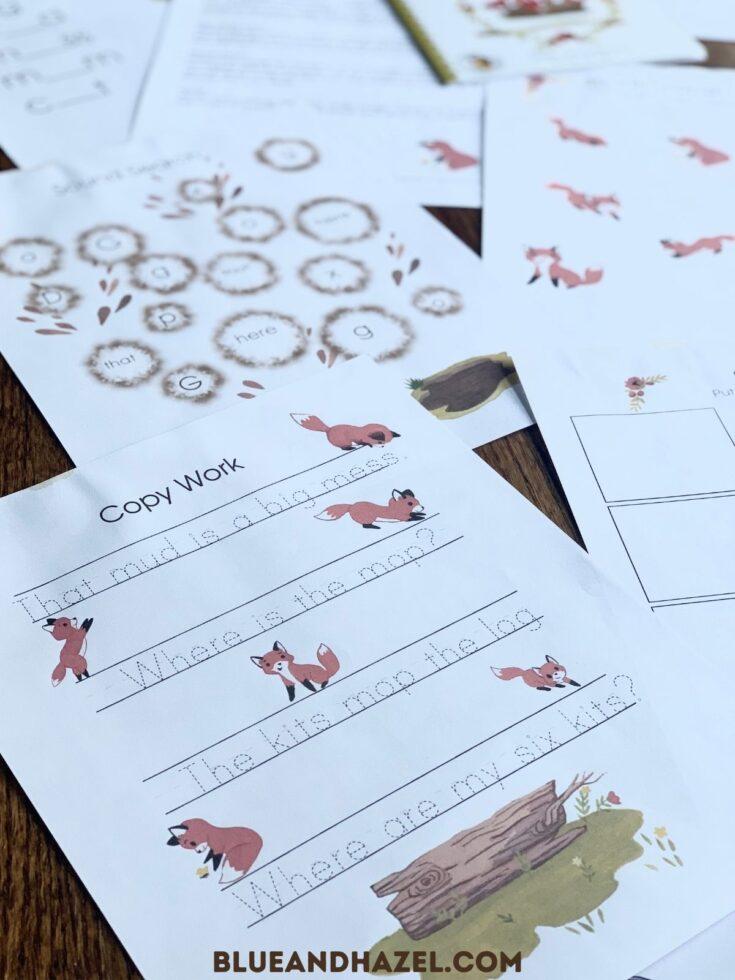 copywork from the dash into learning activity pack printable.
