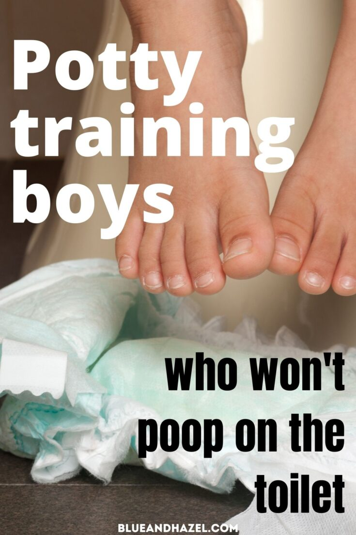 toddler's toes next to a diaper during potty training